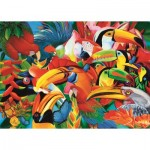 Puzzle  Trefl-37328 Colorful Birds