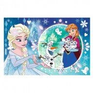 Trefl-75115 Disney Frozen - Puzzle + Stickers