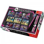 Puzzle  Trefl-90308 3 Histoires, 3 tailles : Monster High