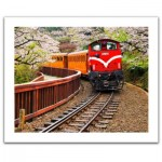 Pintoo-H1482 Puzzle en Plastique - Forest Train in Alishan National Park, Taiwan