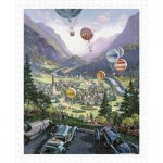 Pintoo-H1644 Puzzle en Plastique - Michael Young - Up Up and Away