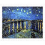 Pintoo-H1760 Puzzle en Plastique - Vincent Van Gogh - Starry Night Over The Rhone, 1888