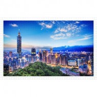 Pintoo-H1916 Puzzle en Plastique - The Beautiful Sunset of Taipei