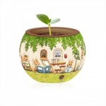 Pintoo-K1023 Puzzle 3D - Flower Pot - Happy Reading