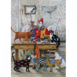 Puzzle  Art-Puzzle-4271 The Colored Cats