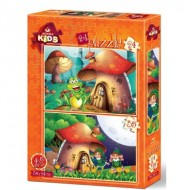 Art-Puzzle-4493 2 Puzzles - The Mushroom House