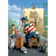 Puzzle  Art-Puzzle-5087 Painter Cat