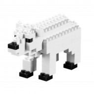 Brixies-57920 Nano Puzzle 3D - Ours Blanc