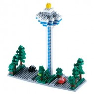 Brixies-58220 Nano Puzzle 3D - Changi Airport Tower (Level 3)