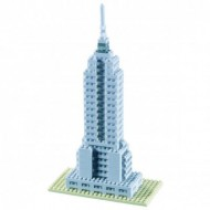 Brixies-58247 Nano Puzzle 3D - Empire State Building (Level 3)