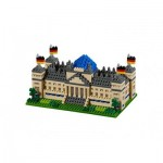 Brixies-58645 Nano Puzzle 3D - Reichstag Berlin (Level 4)