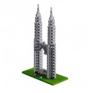 Brixies-58673 Nano Puzzle 3D - Petronas Towers (Level 4)