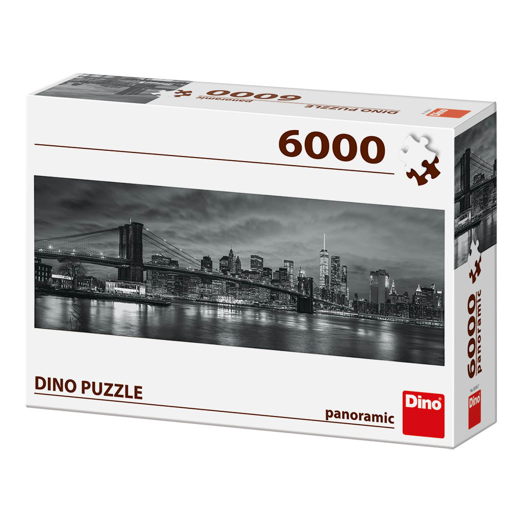 bridge over the east river 6000 teile dino puzzle. Black Bedroom Furniture Sets. Home Design Ideas