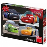 Dino-33317 4 Puzzles - Cars