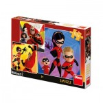 Dino-33531 3 Puzzles - The Incredibles II