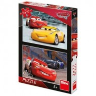 Dino-38615 2 Puzzles - Cars