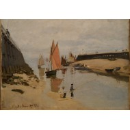 Puzzle  Grafika-00037 Claude Monet : Le Port de Trouville, 1870