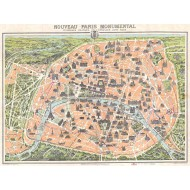Puzzle  Grafika-00164 Plan de Paris Monumental, 1900