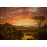 Puzzle  Grafika-00238 Frederic Edwin Church : A Country Home, 1854