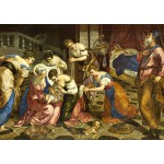 Puzzle  Grafika-00277 Tintoretto : The Birth of John the Baptist, 1554