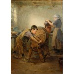 Puzzle  Grafika-00334 Ralph Hedley : The Butter Churn, 1897