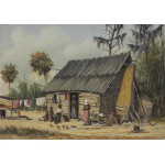 Puzzle  Grafika-00380 William Aiken Walker : A Cabin Scene with Washing on Fence