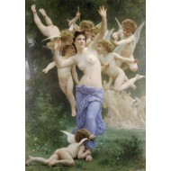 Puzzle  Grafika-00398 William Bouguereau : Invitation, 1893