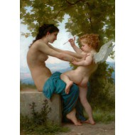 Puzzle  Grafika-00399 William Bouguereau : Jeune fille se défendant contre Éros, 1880