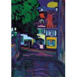 Puzzle  Grafika-00637 Wassily Kandinsky : Murnau, Houses in the Obermarkt, 1908