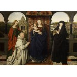Puzzle  Grafika-01721 Jan van Eyck - Virgin and Child, with Saints and Donor, 1441