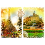 Puzzle  Grafika-02270 Travel around the World - France
