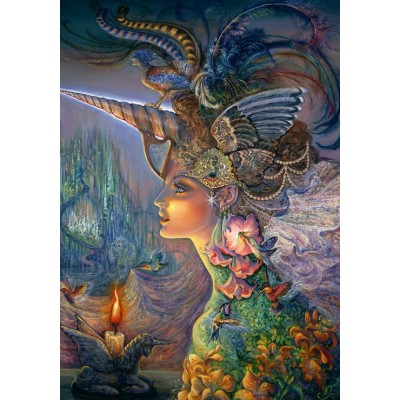 Puzzle Grafika-02362 Josephine Wall - My Lady Unicorn