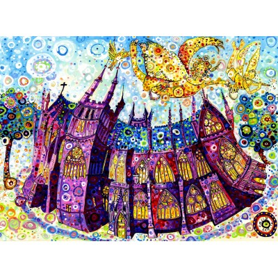 Puzzle Grafika-02859 Sally Rich - Cathédrale