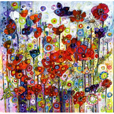 Puzzle Grafika-02867 Sally Rich - Poppies