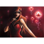 Puzzle  Grafika-T-00114 Misstigri : Red Light Flower