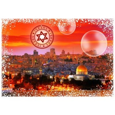 Puzzle Grafika-T-00226 Travel around the World - Israël