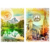 Puzzle  Grafika-T-00235 Travel around the World - Autriche et Suisse