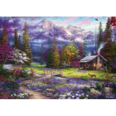 Puzzle Grafika-T-00717 Chuck Pinson - Inspiration of Spring Meadows