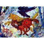 Puzzle  Grafika-T-00884 Sally Rich - Wolves in a Blue Wood