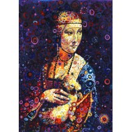 Puzzle  Grafika-T-00889 Leonardo da Vinci: Lady with an Ermine, by Sally Rich