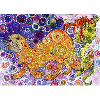 Puzzle Grafika-T-00902 Sally Rich - Otters Catch
