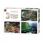 King-Puzzle-05207 3 Puzzles - Garden Collection