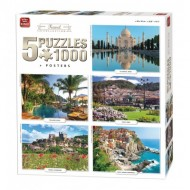 King-Puzzle-05208 5 Puzzles - Travel Collection