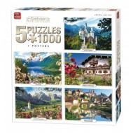 King-Puzzle-05209 5 Puzzles - Landscape Collection