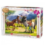 Puzzle  King-Puzzle-05298 Girls & Horses