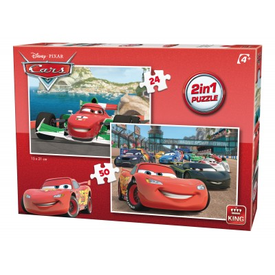 King-Puzzle-05415 2 Puzzles - Cars