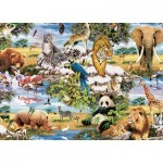 Puzzle  King-Puzzle-05481 Animaux Sauvages