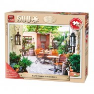 Puzzle  King-Puzzle-05532 Pièces XXL - Café Terrace in Europe
