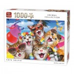 Puzzle  King-Puzzle-05702 Cats Selfie