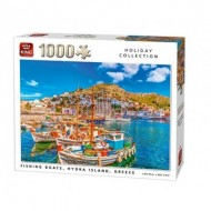 Puzzle  King-Puzzle-05712 Fishing Boats, Hydra Island, Grèce
